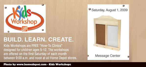 The home depot free kids workshops
